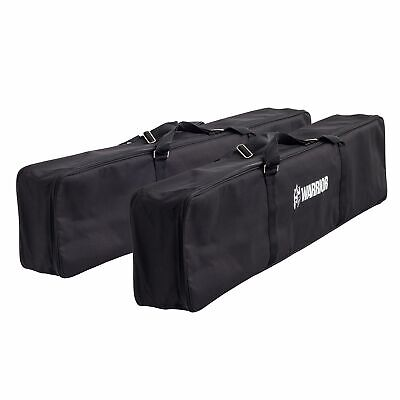 2 x Warrior Motorcycle Loading Ramp Full Length Padded Black Storage/Carry Bags