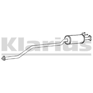 Replacement Exhaust Centre Middle Box Silencer  2 Year Warranty Brand New!