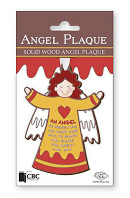 Angel Wooden Plaque 'an Angel To Protect You And Light Your Way' - Others Listed