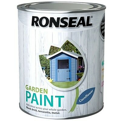 Ronseal Garden Paint Various Colours for Outdoor Exterior Wood Metal Stone Brick
