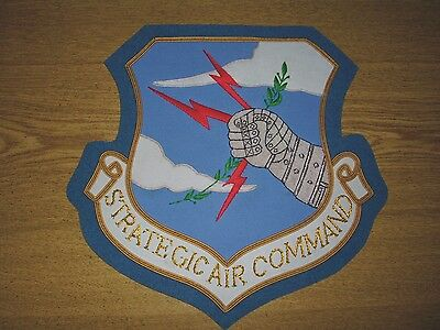 SAC Strategic Air War Nuclear Bomber B 52 Red COA Air Force Patch Jacket Plaque