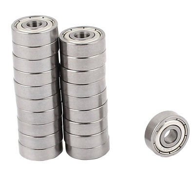 20 Pcs Skateboard 5mmx16mmx5.5mm Metal Sealed Shielded Deep Groove Ball Bearing