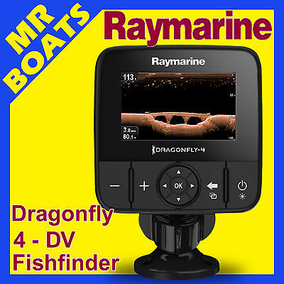 RAYMARINE DRAGONFLY 4 DV FISHFINDER ✱ CHIRP DownVision ✱ FREE POST Fish Finder