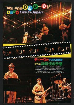 1979 Devo in JAPAN mag photo pinup / mini poster / vintage clipping cutting d07m