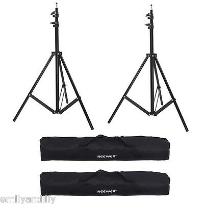 "Neewer 2 Set  10ft Aluminum Tripod Light Stand with 36x5x5"" Carrying Bag"