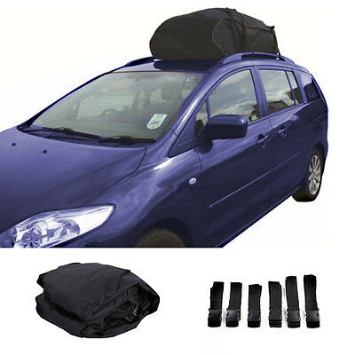 458L Roof Cargo Bag Box Carrier Water Resistant *For Cars With Roof Rails*  UK
