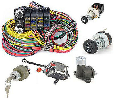 JEGS Performance Products 10405K Universal 20-Circuit Wiring Harness & Switch Ki