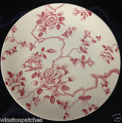 """Ridgway England Shadow Rose 8"""" Salad Plate Pink Mauve Roses On Branches"""