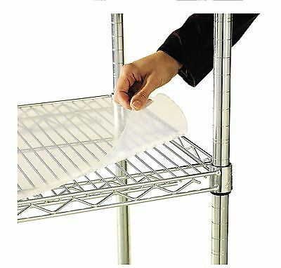"Alera 48"" x 18"" Shelf Liners for Wire Shelving Units Clear 4 Pack ALESW59SL481"