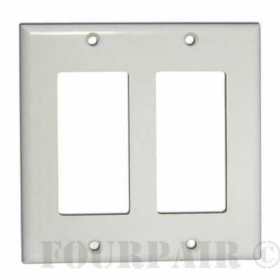5 Pcs Pack Lot - Decora Style Flush Wall Face Plate Double 2 Gang GFCI - White