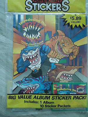 1990s Street Sharks Play & Activity Stickers NEW in pkg 1 album 10 sticker pack
