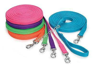 Shires Wessex Cushion Web Lunge Line 26 Foot Long Assorted Colours (4231)
