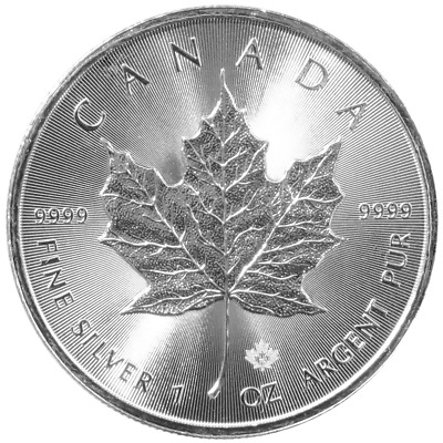 2015 $5 Silver Canadian Maple Leaf 1 oz Brilliant Uncirculated