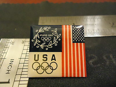 Authentic Usa Flag Olympic 2004 Summer Olympics Pin From Athens, Greece. Win Rio