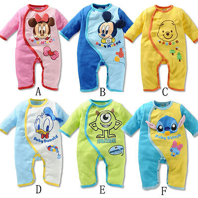 Baby Boys Girls Animal Romper Bodysuit Outfit Costume  Clothes Set 0-18M