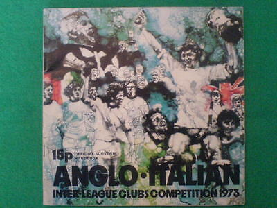 Anglo Italian Inter League Clubs Competition 1973