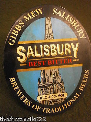 Beer Pump Clip - Salisbury Best Bitter - With Clamp Fitting