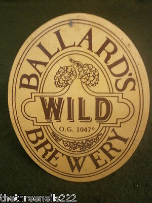 Beer Pump Clip - Ballard's Wild - With Clamp Fitting