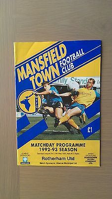Mansfield Town V Rotherham United 1992-93