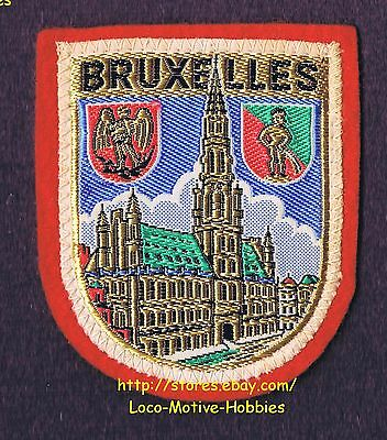 LMH PATCH Woven Badge  BRUXELLES Brussels  GOTHIC TOWN HALL Grand Palace BELGIUM