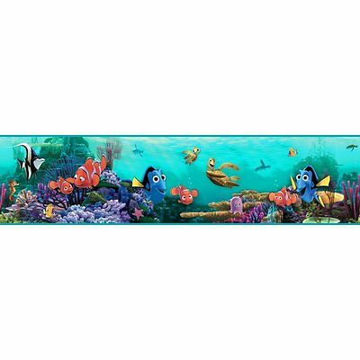 Disney Finding Nemo and Dory in Aqua Sea on Sure Strip Wallpaper Border DS7686BD