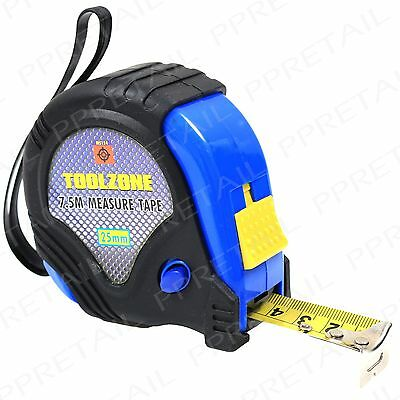 Professional Large 7.5M Tape Measure HEAVY DUTY Rubber Coated Case Toolbox DIY