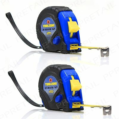 2x ★3M TAPE MEASURE★ Blade Top Quality Highly Durable 3 Function Lock Handyman