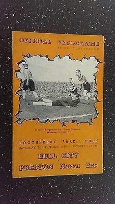 Hull City V Preston North End 1949-50
