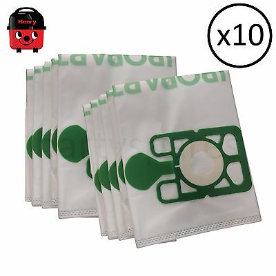 10 High Filtration Microfibre Dust Bags for Numatic Henry Vacuum Cleaner Hoover