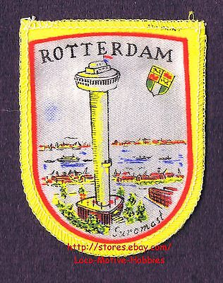LMH PATCH Woven Badge ROTTERDAM EUROMAST Observation Tower NETHERLANDS Coat Arms