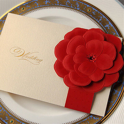 Personalised Wedding Invitations Card & Evening Invites with Envelopes& Seals