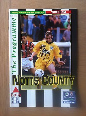 Notts County V Wrexham 1996-97