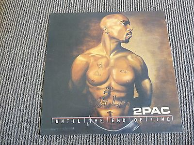 2 Pac Until The End Of Time 2001 Lp Poster Photo Double Sided Flat 12x12 RARE