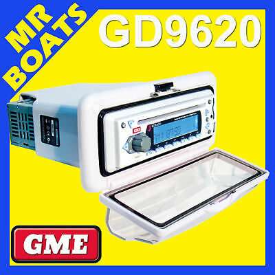 GME ✱ GD9620W FLUSH MOUNT MARINE STEREO ✱ WHITE Multimedia Radio MP3 IPhone Boat