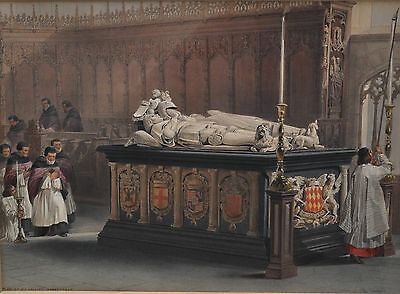 Tomb of De Lalaing Hoogstragt - Louis Haghe (1806-1885)