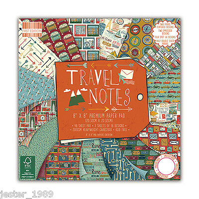 DOVECRAFT Paper 8x8 Full Pack First Edition - TRAVEL NOTES - Scrapbooking