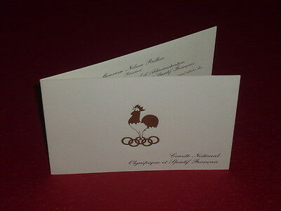 [Coll.J. DOMARD] OLYMPIC GAMES INVITATION DINER 90 ANS C.I.O. PARIS 1984 Crillon