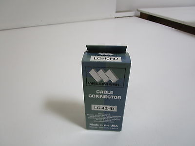 Weldmark Cable Connector Lc-40Hd *new In Box*
