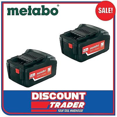 Metabo 18V Lithium-Ion Ultra Li-Extreme-Power 5.2Ah 2x Batteries - 2x6.25592