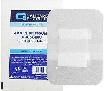 Adhesive First Aid / Medical Wound Dressings - Sizes 10x8cm & 8x6cm