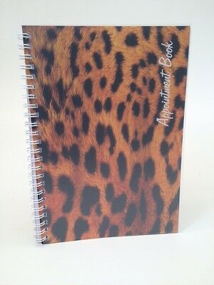 Leopard Print Mobile Appointment Book - Freelance Hairdressers, Beauticians etc.