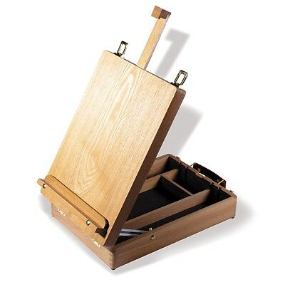 Reeves Cambridge Wooden Table Top Adjustable Painting Easel & Artist Storage Box