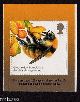 2015 BEES - SELF ADHESIVE Bumblebee Single stamp from Booklet  SG No. 3743