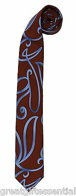 DOCTOR WHO SWIRLY NECKTIE Neck Tie Accessory 10th Dr Blue Costume BBC LICENSED