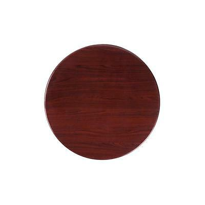 24'' Round Resin Mahogany Restaurant Dining Table Top