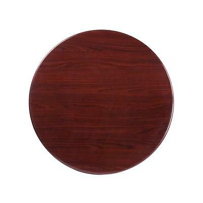30'' Round Resin Mahogany Restaurant Dining Table Top
