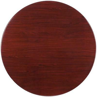 48'' Round Resin Mahogany Restaurant Dining Table Top