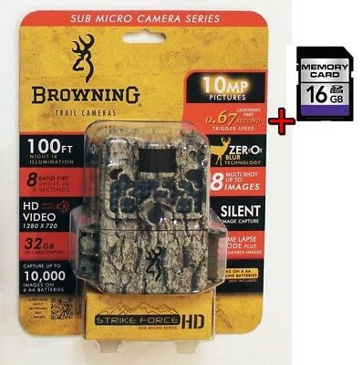 Browning BTC 5HD Strike Force HD Video 10MP Game Camera Infrared + 16GB SD Card