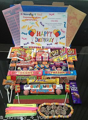 XL Lette Retro Sweet Gift Box & Personalised Birthday 21st 30th 40th Christmas
