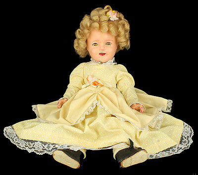 """Vintage 1930's Ideal Shirley Temple 18"""" Sleepy Eye Composition Toy Doll"""